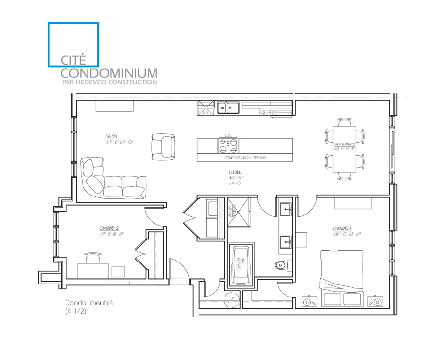 HEDEVCO Construction  CITE CONDOMINIUM -> Plan Meuble En Palette